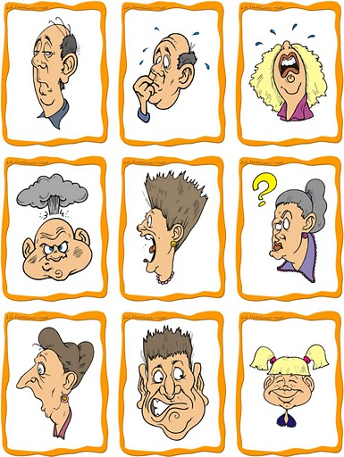 Fichas de emociones (1) caras de emociones_02 – Lengua de ...