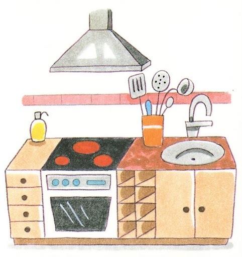 Partes b sicas de la casa en lse lengua de signos espa ola - Dibujos para cocina ...