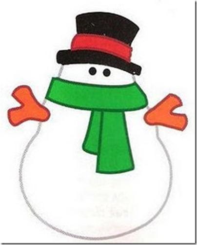 Taller de corona de muñecos de Nieve para la Navidad