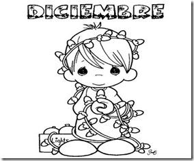 diciembre dibujo