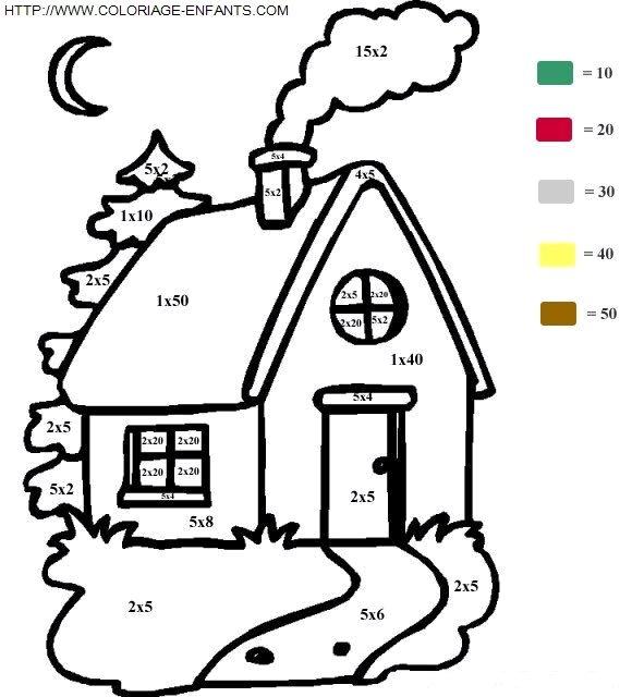 Multiplicaciones mediante dibujos para colorear | Lengua de Signos ...