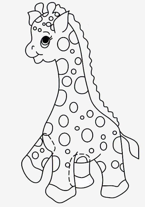 Moldes de animalitos en fomi jirafa - Imagui