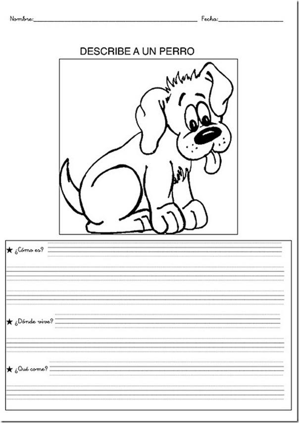 l225minas con dibujos de animales para colorear y describir