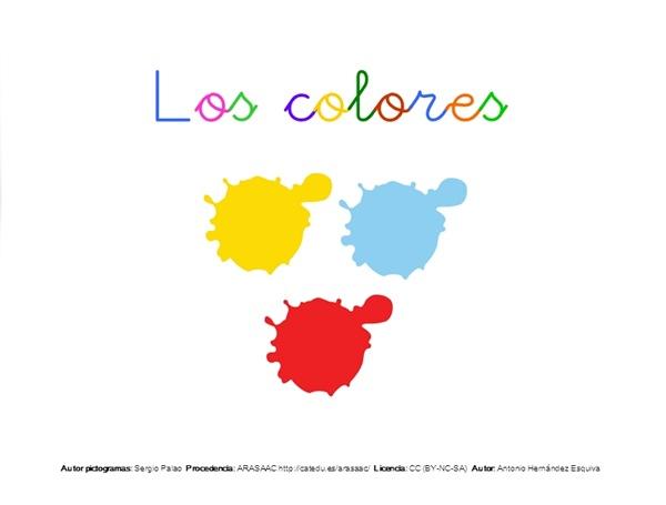 Los colores en Lengua de Signos Española (presentación P.Point, video y capturas de pantalla)