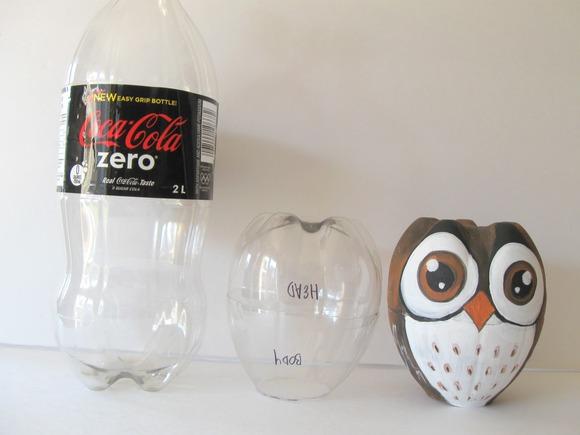 Plastic Bottle Owl