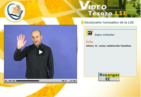 diccionario de lengua de signos espanola: