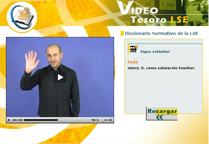 diccionario de la lengua de signos: